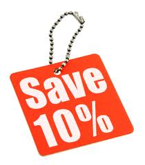 Save 10% offer